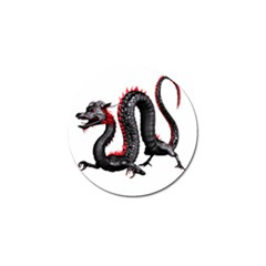 Dragon Black Red China Asian 3d Golf Ball Marker (10 Pack) by Nexatart