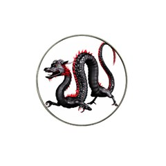 Dragon Black Red China Asian 3d Hat Clip Ball Marker (4 Pack) by Nexatart