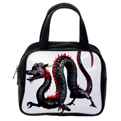 Dragon Black Red China Asian 3d Classic Handbags (one Side)