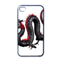 Dragon Black Red China Asian 3d Apple Iphone 4 Case (black) by Nexatart