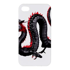 Dragon Black Red China Asian 3d Apple Iphone 4/4s Premium Hardshell Case by Nexatart