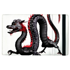 Dragon Black Red China Asian 3d Apple Ipad 3/4 Flip Case by Nexatart