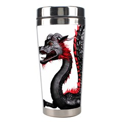 Dragon Black Red China Asian 3d Stainless Steel Travel Tumblers by Nexatart