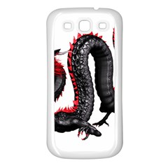 Dragon Black Red China Asian 3d Samsung Galaxy S3 Back Case (white) by Nexatart