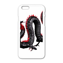 Dragon Black Red China Asian 3d Apple Iphone 6/6s White Enamel Case by Nexatart