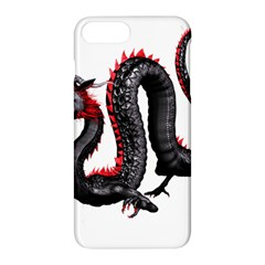 Dragon Black Red China Asian 3d Apple Iphone 7 Plus Hardshell Case by Nexatart