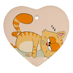 Even Cat Hates Monday Ornament (heart) by Catifornia
