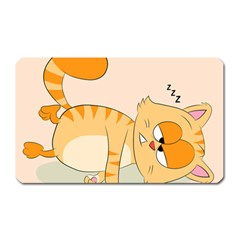 Even Cat Hates Monday Magnet (rectangular) by Catifornia