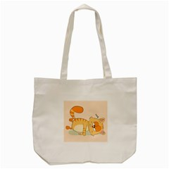 Even Cat Hates Monday Tote Bag (cream) by Catifornia