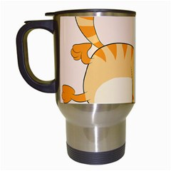 Even Cat Hates Monday Travel Mugs (white) by Catifornia