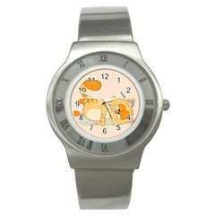 Even Cat Hates Monday Stainless Steel Watch by Catifornia
