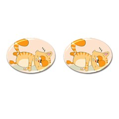 Even Cat Hates Monday Cufflinks (oval) by Catifornia