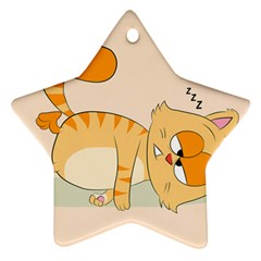 Even Cat Hates Monday Star Ornament (two Sides) by Catifornia