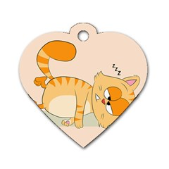 Even Cat Hates Monday Dog Tag Heart (one Side) by Catifornia