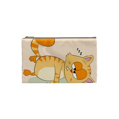 Even Cat Hates Monday Cosmetic Bag (small)  by Catifornia