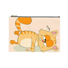 Even Cat Hates Monday Cosmetic Bag (large)  by Catifornia