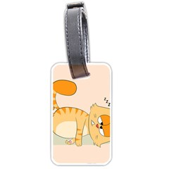 Even Cat Hates Monday Luggage Tags (one Side)  by Catifornia