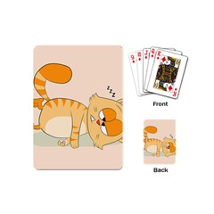 Even Cat Hates Monday Playing Cards (mini)  by Catifornia
