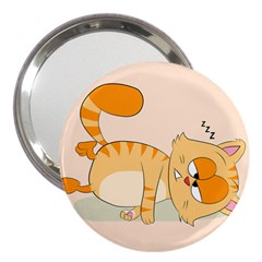 Even Cat Hates Monday 3  Handbag Mirrors by Catifornia