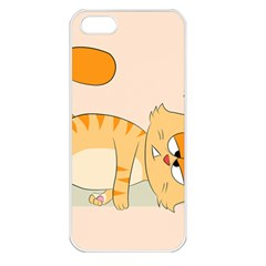 Even Cat Hates Monday Apple Iphone 5 Seamless Case (white) by Catifornia