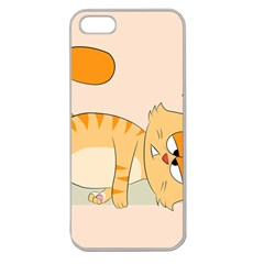 Even Cat Hates Monday Apple Seamless Iphone 5 Case (clear) by Catifornia