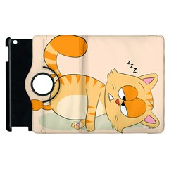Even Cat Hates Monday Apple Ipad 3/4 Flip 360 Case by Catifornia