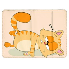 Even Cat Hates Monday Samsung Galaxy Tab 7  P1000 Flip Case by Catifornia