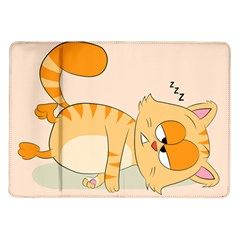 Even Cat Hates Monday Samsung Galaxy Tab 10 1  P7500 Flip Case by Catifornia