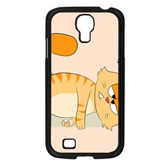Even Cat Hates Monday Samsung Galaxy S4 I9500/ I9505 Case (black) by Catifornia