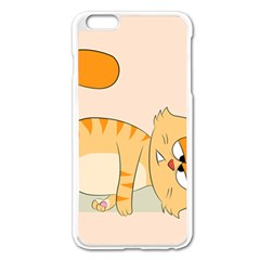 Even Cat Hates Monday Apple Iphone 6 Plus/6s Plus Enamel White Case by Catifornia