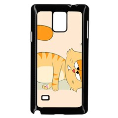 Even Cat Hates Monday Samsung Galaxy Note 4 Case (black) by Catifornia