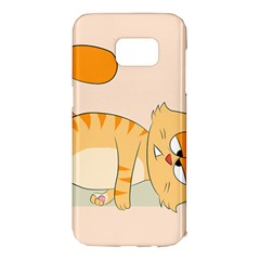 Even Cat Hates Monday Samsung Galaxy S7 Edge Hardshell Case by Catifornia