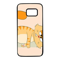 Even Cat Hates Monday Samsung Galaxy S7 Black Seamless Case by Catifornia