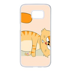 Even Cat Hates Monday Samsung Galaxy S7 Edge White Seamless Case by Catifornia
