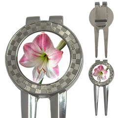 Flower Blossom Bloom Amaryllis 3 In 1 Golf Divots by Nexatart