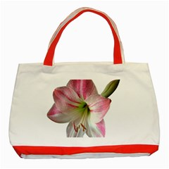 Flower Blossom Bloom Amaryllis Classic Tote Bag (red) by Nexatart