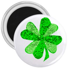 St Patricks Day Shamrock Green 3  Magnets by Nexatart