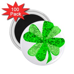 St Patricks Day Shamrock Green 2 25  Magnets (100 Pack)  by Nexatart