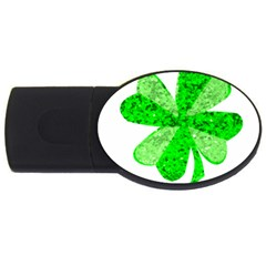 St Patricks Day Shamrock Green Usb Flash Drive Oval (2 Gb) by Nexatart