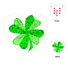 St Patricks Day Shamrock Green Playing Cards (heart)  by Nexatart