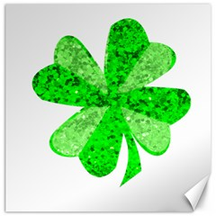 St Patricks Day Shamrock Green Canvas 12  X 12   by Nexatart