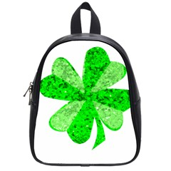 St Patricks Day Shamrock Green School Bags (small)