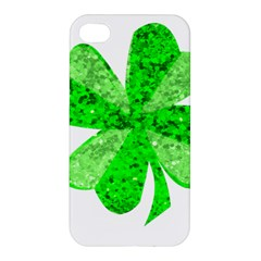 St Patricks Day Shamrock Green Apple Iphone 4/4s Premium Hardshell Case