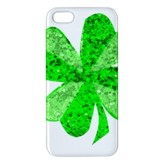 St Patricks Day Shamrock Green Apple Iphone 5 Premium Hardshell Case by Nexatart