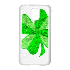 St Patricks Day Shamrock Green Samsung Galaxy S5 Case (white) by Nexatart