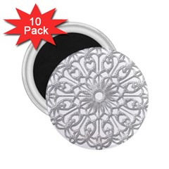 Scrapbook Side Lace Tag Element 2 25  Magnets (10 Pack)