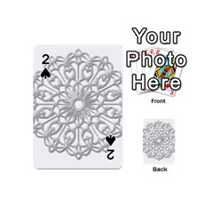 Scrapbook Side Lace Tag Element Playing Cards 54 (mini)  by Nexatart