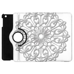 Scrapbook Side Lace Tag Element Apple Ipad Mini Flip 360 Case by Nexatart