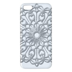 Scrapbook Side Lace Tag Element Apple Iphone 5 Premium Hardshell Case