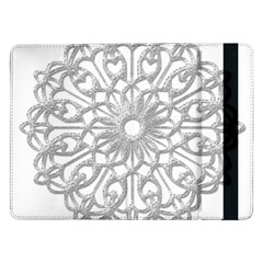 Scrapbook Side Lace Tag Element Samsung Galaxy Tab Pro 12 2  Flip Case by Nexatart